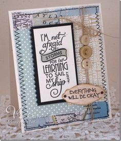 Card by Maureen Plut using Learning to Sail from Verve Stamps. #vervestamps