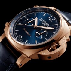 *Blog Update - Read iN!* #Panerai 44mm Luminor Chrono Goldtech™ Blu Notte⌚️🌙 A Nocturnal Dial with an 18k Rose Gold Frame!…🎉
