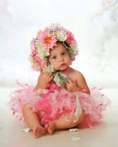 Flower Bonnet & TuTu Set by LillieBelleBoutique on Etsy, $175.00