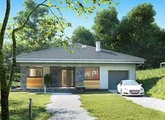 Blanka - murowana – beton komórkowy - zdjęcie 2 Bungalow Homes, Bungalow House Plans, Bungalow House Design, Single Story Homes, Building A New Home, Gazebo, New Homes, Floor Plans, Layout
