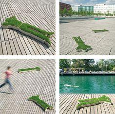 green grass man