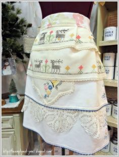 Hello friends...I hope you are in the mood for some COUTURE APRONS I recently had the honor, and I do mean HONOR of creating four c...