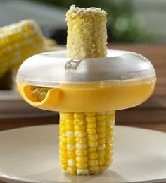 Corn husker- I had no idea this existed.  Handy for young babes and those with sensitive teeth
