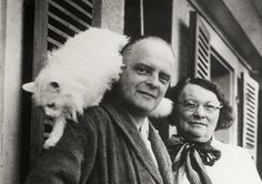 Paul and Lily Klee with cat Bimbo