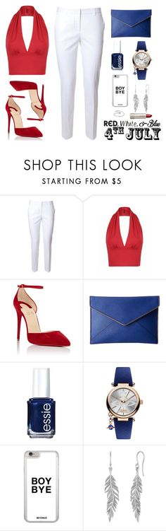 """""""Red, White and Blue"""" by maidaa12 ❤ liked on Polyvore featuring Alberto Biani, Christian Louboutin, Rebecca Minkoff, Essie, Vivienne Westwood, Midsummer Star and Ilia"""