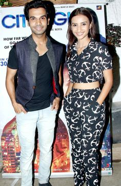 Patralekha and Rajkumar Rao at the special screening of 'Citylights'. Hottest Male Celebrities, Celebs, Kai Po Che, National Film Awards, Daniel Day, Day Lewis, Actors Male, Best Supporting Actor, Black Families