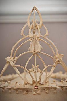 Memento Mori bone crown tiara weddinghair by MementoMoriUK on Etsy