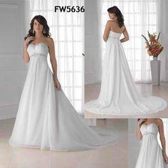 Popular Designs Strapless Beaded Chiffon Beach Wedding Dress 2014  Customized sizecolor  Excellent workmanship  MOQ:1  Paypal