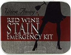 A red wine stain emergency kit to help a random person who could potentially turn into your BFF. | 21 Things That May Actually Help You Meet New People