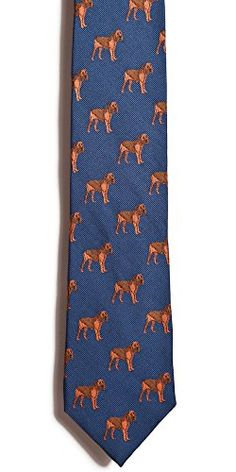 Blood Hound Silk Necktie