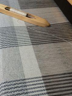 Monochrome Blanket. Very simple 4 shaft patterns, fun to weave: Josephine Andrews awovenfabric@gmail.com