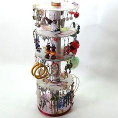 Me gusta reciclar: organizador de pendientes, zarcillos, aretes o.