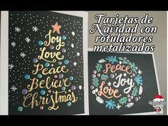 Mr WashiSan: Tarjetas de Navidad con rotuladores metalizados