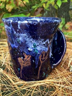 Hand Thrown Hand Warmer Pottery Mug Custom by TheFathersMarket