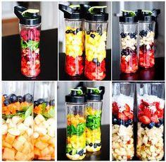 Mad & Søde Sager: 6 fantastiske smoothier Smoothie Prep, Juice Smoothie, Smoothie Drinks, Smoothie Bowl, Fruit Smoothies, Raw Food Recipes, Snack Recipes, Healthy Recipes, Avocado