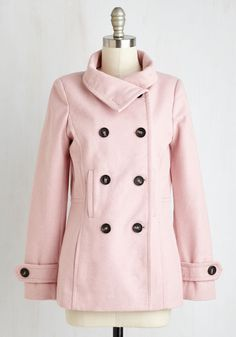 J Crew Stadium-cloth majesty peacoat in pink flamingo} #fallstyle ...