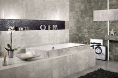 SPA in scandi chic - don't you love it? It's Bergen collection of Ceramstic Design with concrete letters and star decoration (Morgan & Möller)! http://ceramstic.com/pl/bergen/
