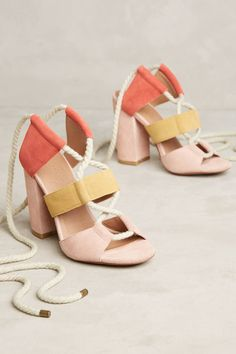 Slide View: 1: Bettye Calypso Lace-Up Heels