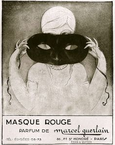 Marcel Guerlain Masque Rouge vintage perfume ad from PerfumeShrine Marcel, Vintage Advertisements, Vintage Ads, Vintage Posters, Perfume Ad, Vintage Perfume Bottles, Illustrations, Illustration Art, Parfum Guerlain