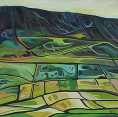 Anna Dillon the Artist - The Irish Series This reminds me of the hoodoos in Kamloops