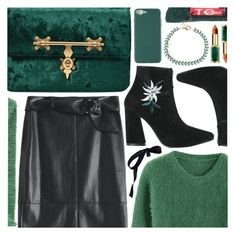 """Emerald green"" by pastelneon ❤ liked on Polyvore"