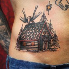 Best tattoo artist in ny Cabin Tattoo, New Tattoos, Cool Tattoos, Bunny And Bear, Printable Christmas Cards, Woodland Nursery Decor, Baby Deer, International Paper Sizes, Animal Nursery