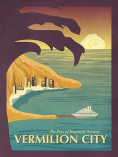 7 Vintage Pokemon Travel Posters