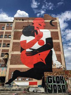 La fresque Jozi du nantais Kazy Usclef à Jozy, ou Johannesburg #StreetArt