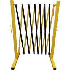 EXPANDABLE BARRICADE STEEL POLE, ALUM MESH, YELLOW/BLACK, UP TO 3.5M.