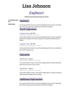 Write Easy Resumes Here