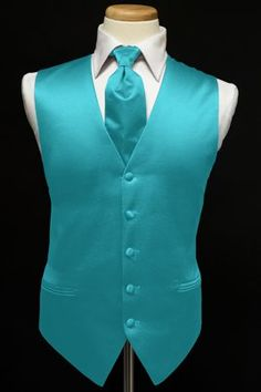 Vest and Tie | Tuxedo Vest – Satin, Color Peri-Winkle – Cool For this Year ...