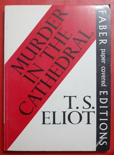 Murder in the Cathedral by T S Eliot vintage Faber paperback 1971