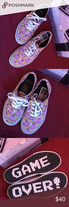 (Nintendo) princess peach vans Like new! Vans Shoes Sneakers