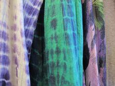 tie dye scarfs
