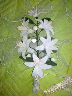 ZAMBAK GELİN ÇİÇEĞİ Lace Art, Plant Leaves, Plants, Felt Garland, Beads, Plant, Planets