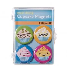 Set de imanes cupcakes Cool Ideas, Coasters, Cupcakes, Future, Kitchen, Design, Magnets, Sheet Metal, Original Gifts