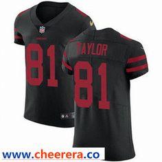 66197025f Nike San Francisco 49ers  81 Trent Taylor Black Alternate Men s Stitched  NFL Vapor Untouchable Elite