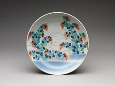 Dish with Bush Clover Design | Japan | Edo period (1615–1868) | The Met