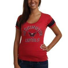 on sale 74dcf 6d564 Brand Washington Capitals Ladies Gametime Scoop Slim Fit T-Shirt - Red