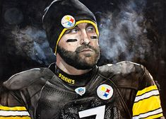 Ben Roethlisberger Pittsburg Steelers by Michael Pattison