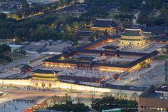 경복궁 야경, Gyeongbokgung Royal Palace abd Presidents House - 10min from my house !!!