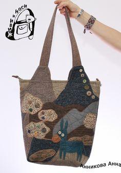 Сумки – 134 фотографии Denim Bag, Quilted Bag, Purses And Handbags, Handicraft, Upcycle, Recycling, Reusable Tote Bags, Stitches, Handmade Fabric Purses