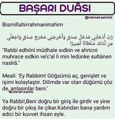 Başarı duaları Allah Islam, Islam Quran, Muslim Pray, Kids Health, Islamic Quotes, Karma, Prayers, Motivation, Books