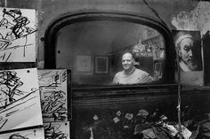 Frank Auerbach in his studio, Campden Town, London, 1986.