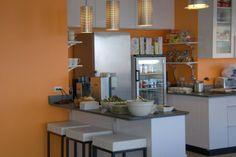 Fog Creek Software Office - counter, glass fridge