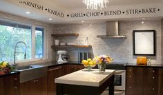 KITCHEN & COOKING WORDS & TERMS Vinyl Wall Decal/Sticker/Border/Lettering/Quote #Oracal #Contemporary
