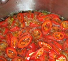 Hot Pepper Rings in Olive Oil with Garlic