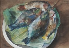 Vicente Silva Manansala (January 1910 - August was a Philippine cubist painter and illustrator. Manansala was born in. Watercolor Fish, Watercolor Trees, Watercolor Landscape, Filipino Art, Philippine Art, Still Life Fruit, Artists Like, Magazine Art, Art Market