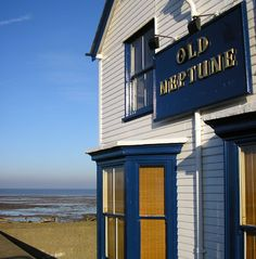 it's dickensian, has great vintage shops, fish & chips and a pub on the beach. Whitstable Beach, Whitstable Kent, Kent Coast, Cafe Sign, Tourist Board, Seaside Holidays, British Seaside, Cottages By The Sea, England And Scotland