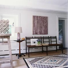File Style: Mark Cunningham - % Interior Inspiration, Room Inspiration, Stone Ridge, Interior Architecture, Interior Design, French Furniture, Wall Treatments, Elle Decor, Entryway Tables